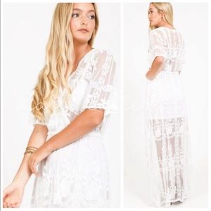 Dresses & Skirts - White Lace Boho Dress